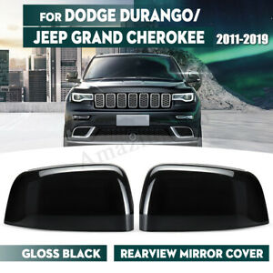 For Jeep Grand Cherokee Dodge 2011 2019 Abs Side Mirror Cover Caps Glossy Black