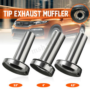 Insert 3 5 4 4 5 Removable Tip Muffler Exhaust Silencer For Honda T 304ss