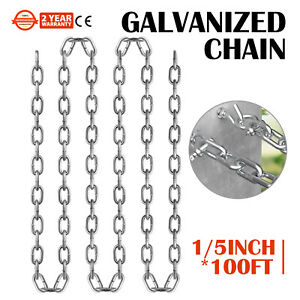 Zinc Plated Chain Grade 30 1 5 100ft Proof Coil Chain Logging Towing