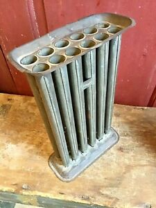 Antique American Tinware Candle Mold 12 Tube Great Primitive Look