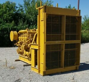Caterpillar D3508b Diesel Power Unit W radiator 1200rpm 900hp Used Tested