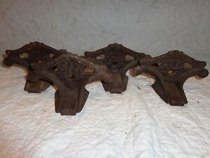 Lot Of 4 Vintage Cast Iron Snow Birds Roof Guards Architectural Salvage Siegar