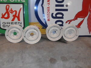 Lot Of 5 15 X 5 Rims Ford F100 Trucks 1947 1964