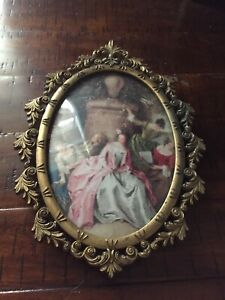 Vintage Ornate Metal Picture Frame Made In Italy