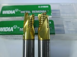 Lot 2 Pcs Widia Carbide 1 4 Roughing End Mills 3 Flute Milling Rougher Tool