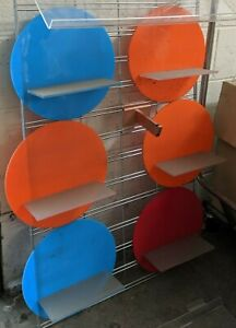 Used 7 Pcs Colorful Slatwall Shelf Shoe Display Local Pickup Los Angeles