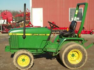 John Deere 670 Compact Diesel 4 wheel Drive Tractor Real Good Condition