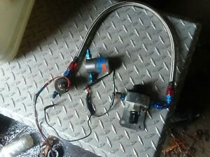Nos Fuel Nitrous Solenoid With Fuel Regulator And Braided Line