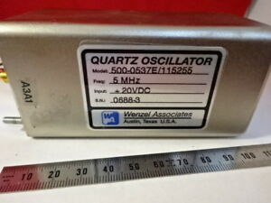 Wenzel Miteq 5 Mhz Low Phase Noise Quartz Oscillator Frequency Standard 6v a 33