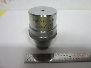 Objective Vickers England Metallograph 10x Optics Microscope As Is Bin g5 10