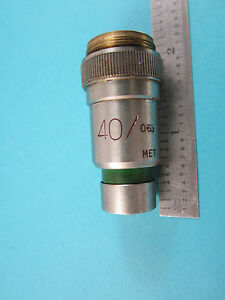 Vickers England Uk Microscope Objective 40x Optics Part