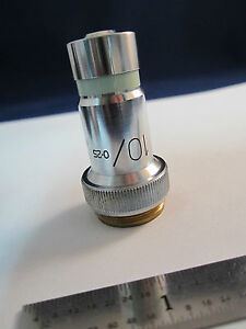 Vickers England Uk Microscope Objective 10x Optics Part Bin 20 Ii