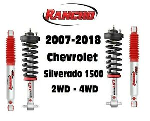 Rancho Front Struts Rs9000xl Adjustable Rear Shocks For 07 18 Silverado 1500