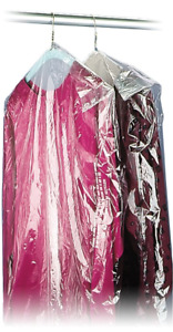 40 21x7 Crystal Clear Plastic Dry Cleaning Poly Garment Bags 600 Bags Roll