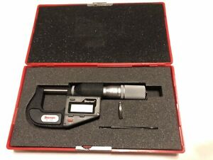 Starrett 3732xfl 1 Inch metric Electronic Micrometer with Upgraded Case