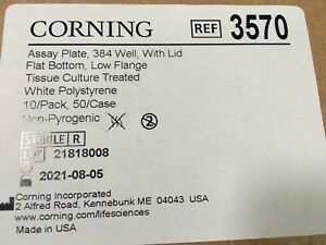 Corning 384 well Assay Plate 3570 sterile White Tc treated 10 pack