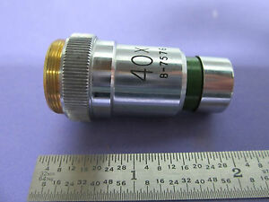 Microscope Optics Part Vickers Uk Objective 40x Microplan Bin 7