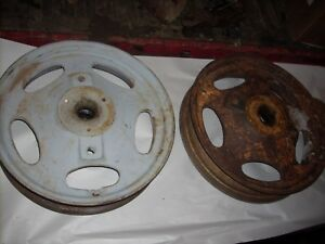 H201r Cast Front Wheels John Deere Early H Tractor