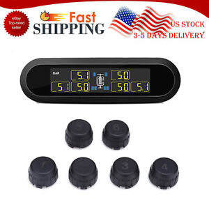 Solar Power Wireless Tpms Tire Pressure Monitoring System 6 Sensors T650 For Van