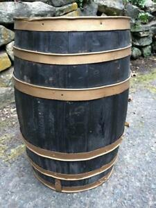 Vintage Rustic Wood Keg Pickle Barrel Farm General Store Western Country Decor