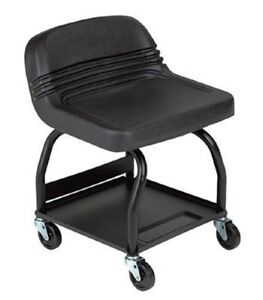 Mechanic Creeper Seat Heavy Duty Padded High Back Roll Chair Garage Shop Stool
