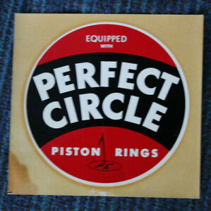 Original Vintage Perfect Circle Water Decal Piston Rings Flathead Hot Rod Old V8