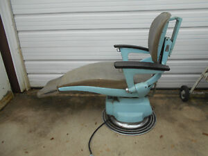 Vintage Electric Ritter Dentist Chair Hydraulic Doctor Tatoo Barber Lab Man Cave