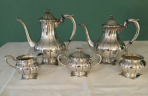 Vintage 5 Piece 950 Sterling Silver Service Mint Condition