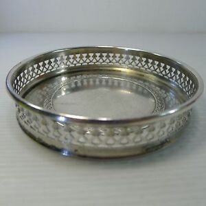 Solid 94 Grams Silver Round Tray Stamped 800 29 Pd