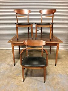 Lane Acclaim Mid Century Dining Table W 3 Chairs