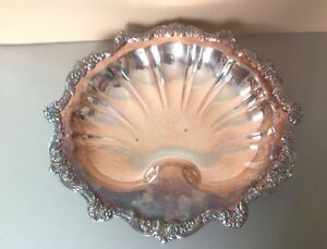Vintage Silverplate Old English Shell Shaped Server By Poole