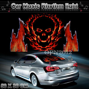 50x30cm Car Sticker Sound Activated Equalizer Music Rhythm Led Flash Light Lamp