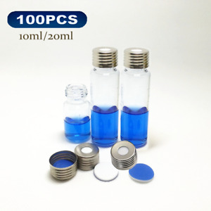 10ml 20ml Headspace Gc Sample Vials Screw Thread Round Bottom Thick Glass 100pcs
