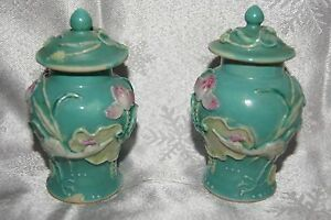 Small Chinese Ginger Jars With Lids Marked China Circa 1889 1920