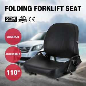 New Universal Folding Forklift Seat Fits Nissan Polyurethane 27 Lbs Updated