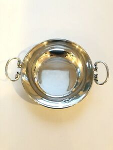 Vintage Sterling Silver Bowl With Dragon Handles 3 78oz