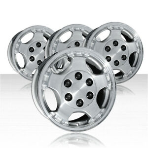 Revolve 16x7 Machined And Silver Wheel For 99 02 Chevy Silverado 1500 Set Of 4