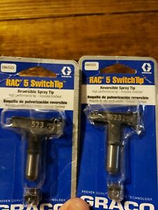 2 Graco Rac 5 Switchtips 523 Reversible Spray Tip Oneseal 286523
