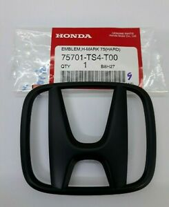 H Matte Black Honda Emblem Front Rear Civic Fb 75701 Ts4 T00