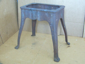 Antique Cast Iron Base Stand Steampunk Industrial Machine Table Pedestal Coffee