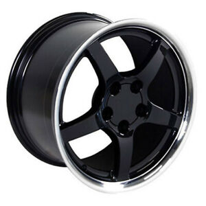 Black Wheel 17x9 5 W Machined Lip For 1993 2002 Chevy Camaro Owh0272