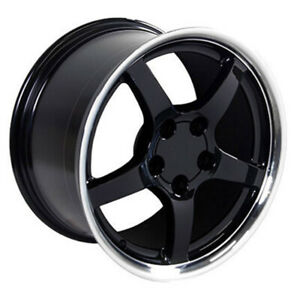 Black Wheel 18x9 5 W Machined Lip For 1993 2002 Chevy Camaro Owh1051