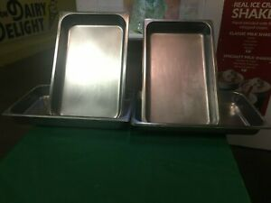 Lot Of 4 Full Size Steam Table Pans 2 1 2 Deep