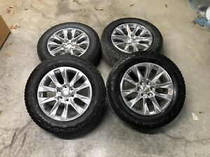 Chevy Silverado 20 Polished Factory Oem Wheels Tires Tahoe Suburban