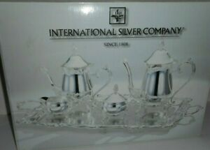 International Silver Company Silverplated 5 Piece Coffee Tea Set 99115023 New