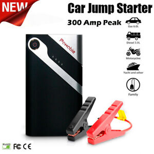 12v Portable Emergency Car Jump Starter Pack Booster Battery Charger Power Bank