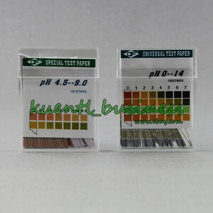 100 Ph Test Strips Ph 0 14 4 5 9 Alkaline Acid Urine saliva litmus Paper Sticks