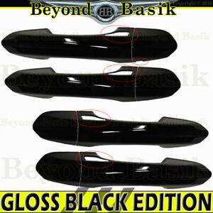 2013 2019 Ford Fusion Gloss Black Door Handle Covers Trims W 4 Smart Keys