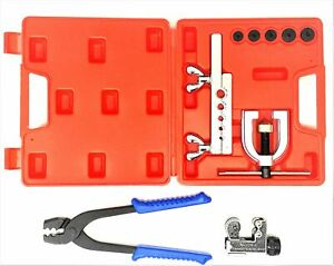Brake Line Tool Kit includes Inverted Flare Kit Tube Cutter And Tubing Pliers