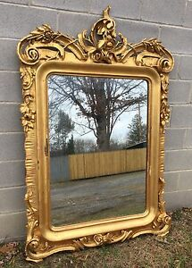 Beautiful Large Gold Gilt Mirror